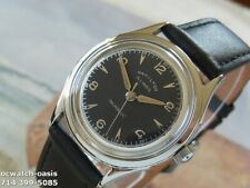 1950's Vintage HAMILTON ILLINOIS, Stunning Black Dial, Serviced & warranty