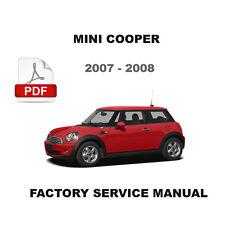 MINI COOPER 2007 - 2008 FACTORY OEM SERVICE REPAIR MAINTENANCE FSM MANUAL