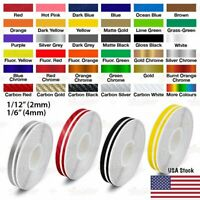 """1/2"""" Roll Vinyl Pinstriping Pin Stripe Double Line Car Tape Decal Stickers 12mm"""