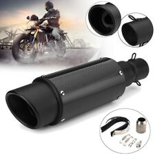 Universal 38-51mm Motorcycle Carbon Fiber Exhaust Muffler Pipe Kit Dirt Bike ATV