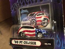 2000 pt cruise Muscle machine Red White blue hood scoop  funline 1:64 MAISTO
