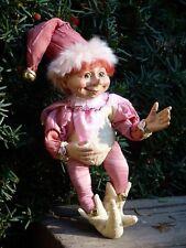 "elve gnome doll figurine floridus pink 10"""