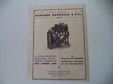 advertising Pubblicità 1947 MACCHINE SOCIETA' ADRIANO GARDELLA - GENOVA
