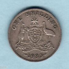 Australia.  1933 Shilling ..  F/F+