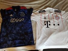 Bayern munich and ajax away football shirts