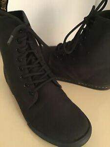 Dr Martens women Sheridan black canvas lace up boots US size 6 Euro 37 medium
