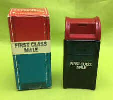 Avon Men's First Class Male Wild Country After Shave Glass 4oz Bottle (empty)