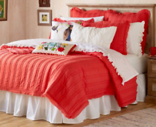"Pioneer Woman Full Queen Quilt Comforter Double Stitch Red 90"" x 90"" New"