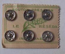 #) carte ancienne 6 boutons pressions 8 mm - LE RESEDA