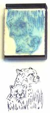 Leopard Mother & Cub rubber stamp by Amazing adorable!