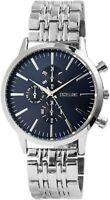 Excellanc Herrenuhr Blau Silber Analog Chrono-Look Armbanduhr Quarz X2800036003