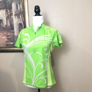 Cannondale Women's Bike CyclingSemi Fitted Lime Green Jersey Size Med Shirt