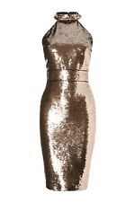 158383e84b5d Abbey Clancy x Lipsy Sequin Halterneck Midi Dress Size 10 (BNWT)