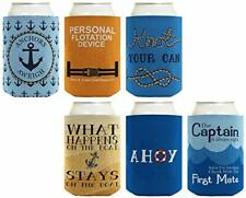 Boat Gifts Beer Coolie Nautical Gift Set Cruise Gifts 6-pack Can Coolie Drink.