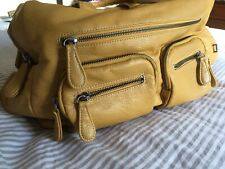 OiOi Mustard Faux Buffalo Carry All Nappy/Change Bag for Baby or Toddler