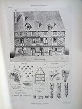 Maison du Saumon à Chartres  (Eure et Loir) planche début XX°