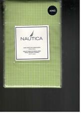 Nautica Sailcloth Check Lime Green White King Pillowcases Nautical New