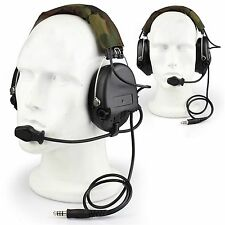 Military Kopfhörer mit Boom Microphone Tactical MSA SORDIN Headset Airsoft  #GY