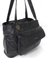 Womens Lorenz Real Leather Organizer Long Strap Shoulder Bag Handbag Purse UK