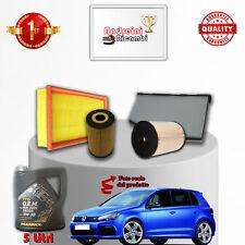 Kit Inspección Filtros Y Aceite VW Golf VI 1.6 Tdi 66KW 90CV De 2011- >