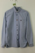 FRED PERRY Blue Long Sleeve Shirt Size S