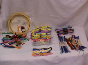 130 Skeins vtg embroidery floss Lily Royal society Star J&P Coats and Clarks ont