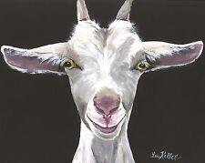"Goat Print, goat art print, 11x14"" goat print of ""Patsy"" signed by artist"