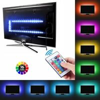 TV Backlight Light Kit USB LED Lights Strips 5050 RGB Bias Lighting for HDTV PC#