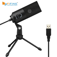 Fifine Metal USB Condenser Recording Microphone For Laptop MAC Windows Cardioid