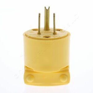 New Eaton Yellow Straight Blade Male Commercial Plug 15A 125V NEMA 5-15P 4867