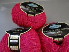 Wool +acryclic  3  BALLS SENSATIONS BELLEZA COLLECTION STELLINA YARN- FUCHSIA