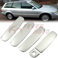 Silver Stainless Steel Side Door Handle Cover For Audi A3 A4 B5 A6 S6 1999-02 FM