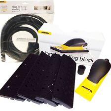 Mirka Handblock Kit 70x198mm HookNLoop Multi Head Sanding Block + Hose Abranet