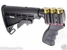 Rifle Stock And Grip For Remington 870 12 Gauge Shotgun Black.
