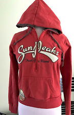 Vintage Euro O'Blue Hoodie Girls XL (or Wmns S). Faded red with retro patches.