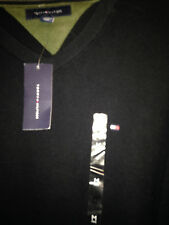 ****NEW NWT TOMMY HILFIGER SPORT MED VNECK CREW RUGBY PullOver Dress Polo Shirt