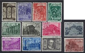 Vatican City 1949 Basilicas Complete Set to 100L + Espressos Used CV £94