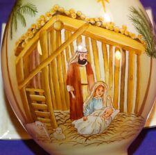 Ne Qwa Art Joy To The World Lisa Alderson Reverse Paint Glass Christmas Ornament