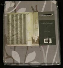 Madison Park Essentials Fabric Shower Curtain Gray Floral 72x72 new