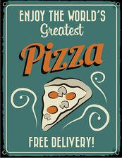 PIZZA SLICE  FAST FOOD:TAKEAWAY:DINER:PUB GRUB:KITCHEN DECOR METAL SIGN NO 2