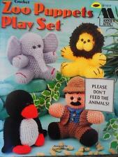 Annie's Attic ZOO PUPPETS PLAY SET Crochet Patterns