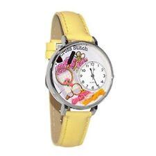 Whimsical Watches Unisex U0450010 Cross Stitch Yellow Leather Watch
