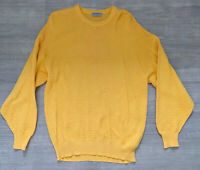 Jaeger Cotton Jumper Long Sleeve Jumper Vintage Yellow Size 18 20  Long Sleeve