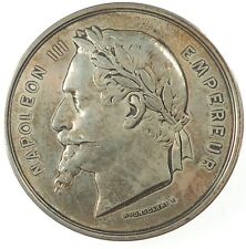 New listing 1857 France Napoleon Iii - Universal Exposition by Ponscarme silver 51mm