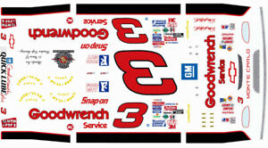 #3 Dale Earnhardt 1995 Silver Select 1/64th Scale Nascar Waterslide Decals