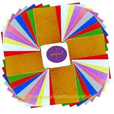 40 Glitter Foam Sheets A4 10 Assorted Colours