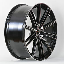4 GWG Wheels 18 inch Black Machined FLOW Rims fits JEEP CHEROKEE SPT4X4 2014-16