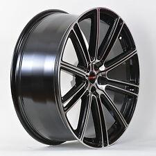 4 GWG Wheels 18 inch Black Machined FLOW Rims fits SATURN L SERIES 2000-2006