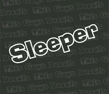 Sleeper vinyl decal JDM stickers illest car window graphic boost slammed turbo