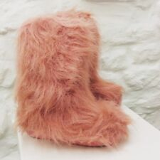 Pink Faux Fur Yetti Style Boots. Brand New. Childrens Size 12.